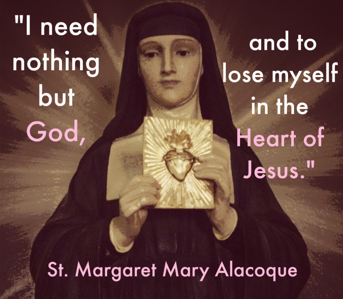 Feast of St. Margaret Mary Alacoque – Friday 16th October 2020
