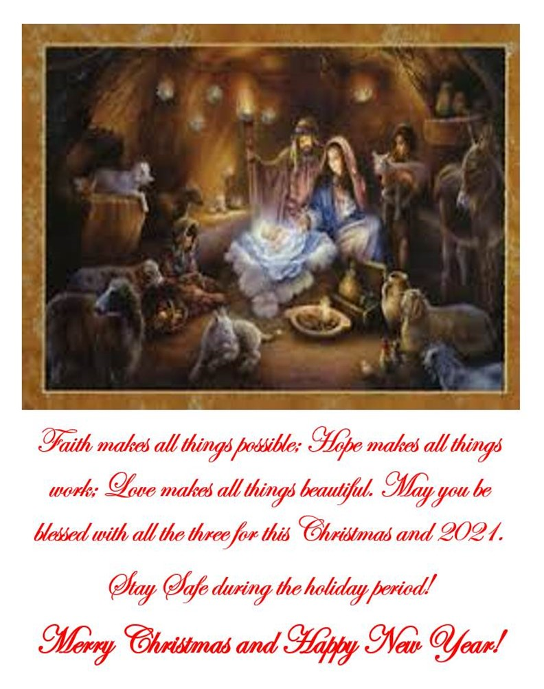 The NATIVITY of the LORD (CHRISTMAS)-25 December 2020