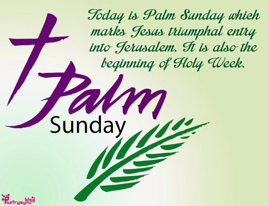 PALM SUNDAY of the PASSION of the LORD (Year B)-28 March 2021
