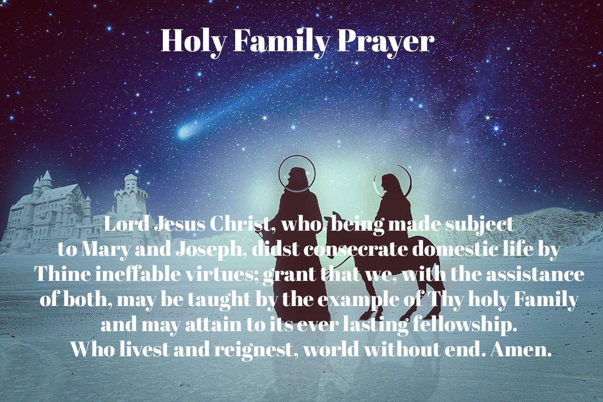 The HOLY FAMILY of Jesus, Mary & Joseph – 27 December 2020